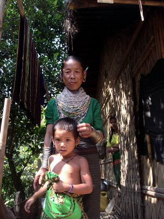 Chakma woman and grandson