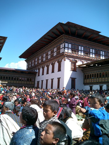 Thimpu tsechu crowd